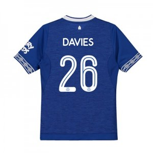 Everton Home Cup Shirt 2018-19 - Kids with Davies 26 printing