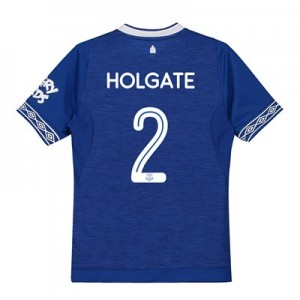 Everton Home Cup Shirt 2018-19 - Kids with Holgate 2 printing