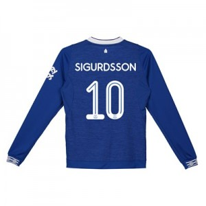 Everton Home Cup Shirt 2018-19 - Kids - Long Sleeve with Sigurdsson 10 printing