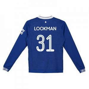 Everton Home Cup Shirt 2018-19 - Kids - Long Sleeve with Lookman 31 printing