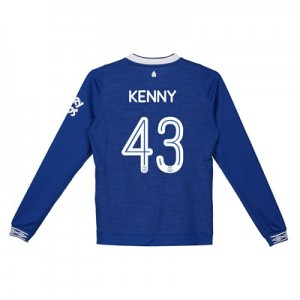 Everton Home Cup Shirt 2018-19 - Kids - Long Sleeve with Kenny 43 printing