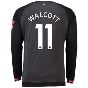 Everton Away Shirt 2018-19 - Long Sleeve with Walcott 11 printing