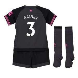 Everton Away Infant Kit 2018-19 with Baines 3 printing