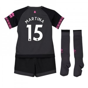 Everton Away Baby Kit 2018-19 with Martina 15 printing
