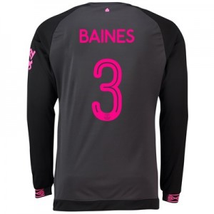 Everton Away Cup Shirt 2018-19 - Long Sleeve with Baines 3 printing
