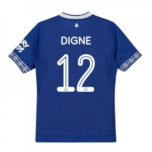 Everton Home Cup Shirt 2018-19 - Kids with Digne 12 printing
