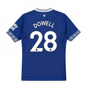 Everton Home Shirt 2018-19 - Kids with Dowell 28 printing