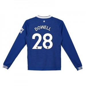 Everton Home Shirt 2018-19 - Kids - Long Sleeve with Dowell 28 printing