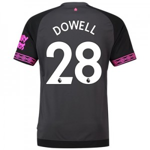 Everton Away Shirt 2018-19 with Dowell 28 printing