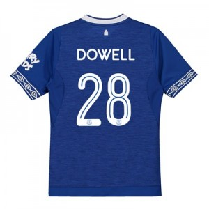 Everton Home Cup Shirt 2018-19 - Kids with Dowell 28 printing