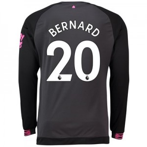 Everton Away Shirt 2018-19 - Long Sleeve with Bernard 20 printing