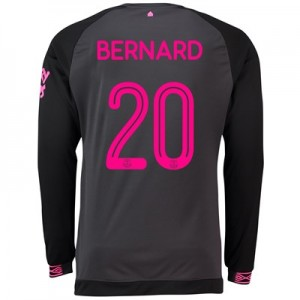 Everton Away Cup Shirt 2018-19 - Long Sleeve with Bernard 20 printing