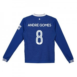 Everton Home Cup Shirt 2018-19 - Kids - Long Sleeve with André Gomes 8 printing