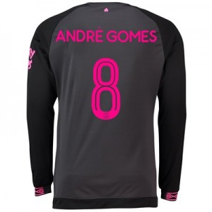 Everton Away Cup Shirt 2018-19 - Long Sleeve with André Gomes 8 printing