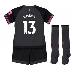 Everton Away Infant Kit 2018-19 with Y.Mina 13 printing