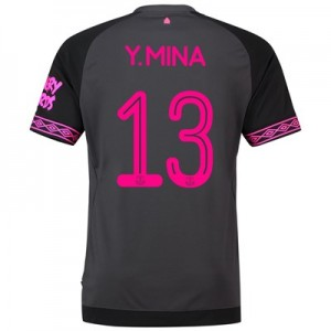 Everton Cup Away Shirt 2018-19 with Y.Mina 13 printing