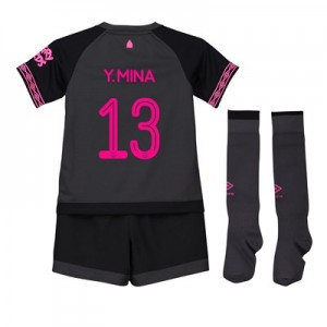 Everton Away Cup Infant Kit 2018-19 with Y.Mina 13 printing