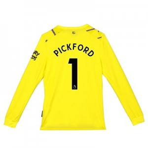Everton Goalkeeper Home Shirt 2019-20 - Long Sleeve - Kids with Pickford 1 printing