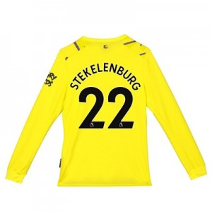 Everton Goalkeeper Home Shirt 2019-20 - Long Sleeve - Kids with Stekelenburg 22 printing