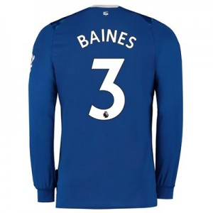 Everton Home Shirt 2019-20 - Long Sleeve with Baines 3 printing