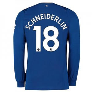 Everton Home Shirt 2019-20 - Long Sleeve with Schneiderlin 18 printing