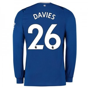 Everton Home Shirt 2019-20 - Kids - Long Sleeve with Davies 26 printing