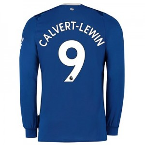 Everton Home Shirt 2019-20 - Kids - Long Sleeve with Calvert-Lewin 9 printing
