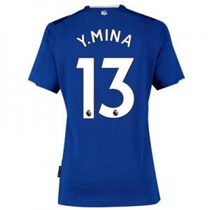 Everton Home Shirt 2019-20 - Womens with Y.Mina 13 printing