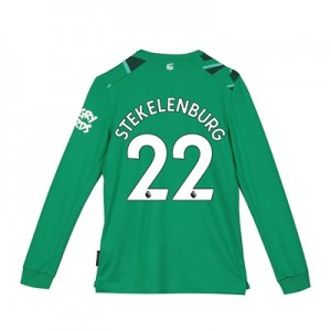 Everton Goalkeeper Away Shirt 2019-20 - Long Sleeve - Kids with Stekelenburg 22 printing
