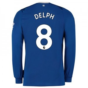 Everton Home Shirt 2019-20 - Long Sleeve with Delph 8 printing