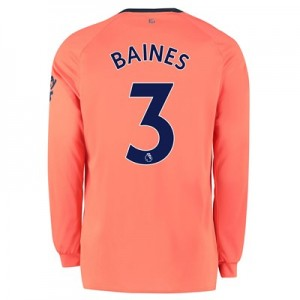Everton Away Shirt 2019-20 - Long Sleeve with Baines 3 printing
