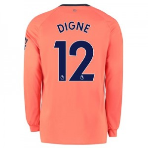 Everton Away Shirt 2019-20 - Long Sleeve with Digne 12 printing