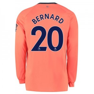 Everton Away Shirt 2019-20 - Long Sleeve with Bernard 20 printing