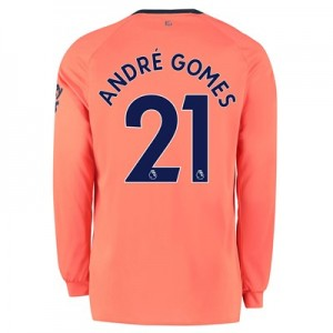 Everton Away Shirt 2019-20 - Long Sleeve with André Gomes 21 printing