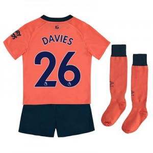 Everton Away Infant Kit 2019-20 with Davies 26 printing