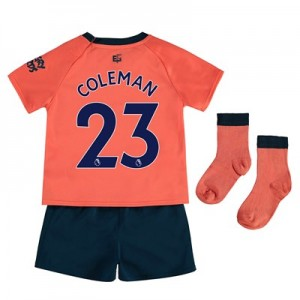 Everton Away Baby Kit 2019-20 with Coleman 23 printing