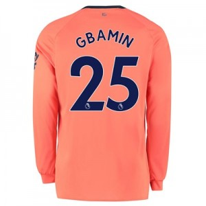 Everton Away Shirt 2019-20 - Long Sleeve with Gbamin 25 printing