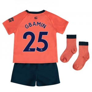 Everton Away Baby Kit 2019-20 with Gbamin 25 printing