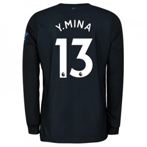 Everton Third Shirt 2019-20 - Long Sleeve with Y.Mina 13 printing