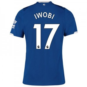 Everton Home Shirt 2019-20 with Iwobi 17 printing