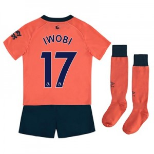 Everton Away Infant Kit 2019-20 with Iwobi 17 printing