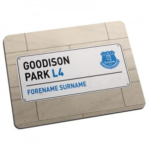 Everton Personalised Street Sign Mouse Mat