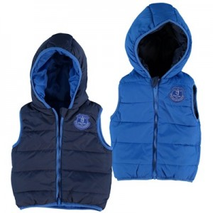Everton Reversible Gilet - Navy/Royal - Baby