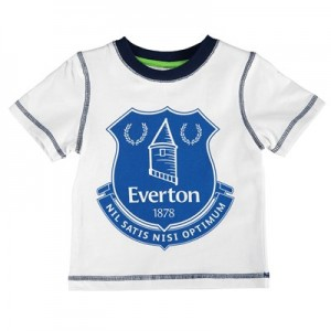 Everton Crest T-Shirt - White - Baby