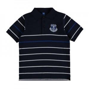 Everton Stripe Polo - Royal/White - Junior