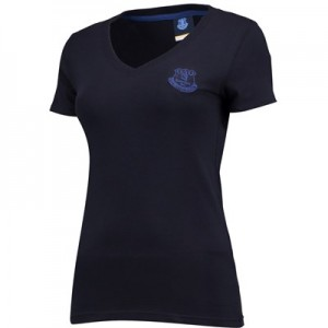 Everton Essential V T-Shirt - Navy - Womens