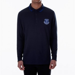 Everton Essential Long Sleeve Polo - Navy