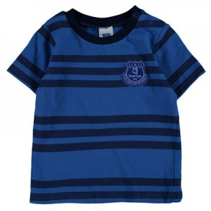 Everton Stripe T-Shirt - Royal/Grey - Baby