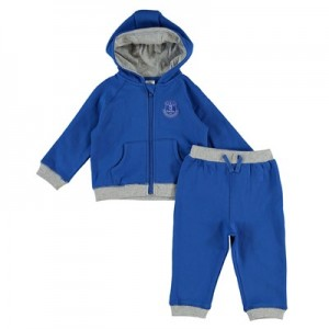 Everton Crest Jog Suit - Royal - Baby