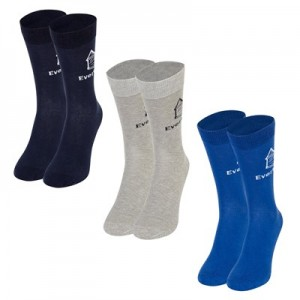 Everton 3 Pack Ankle Socks - Navy/Blue/Grey - Mens